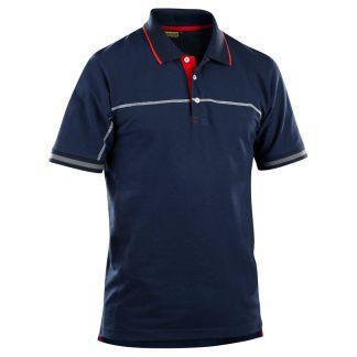 Poloskjorte Blå/Rød