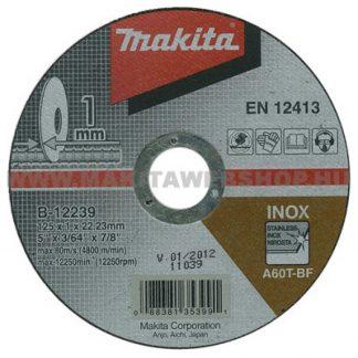 Kappeskive metall 125x1.0mm